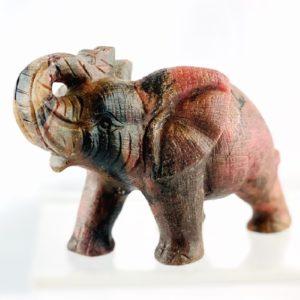 Elefant, Rhodochrosit, Steinfigur