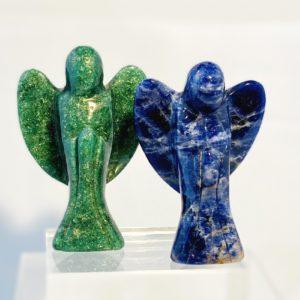 Engel, Schutzengel, Aventurin grün, Lapis Lazuli blau