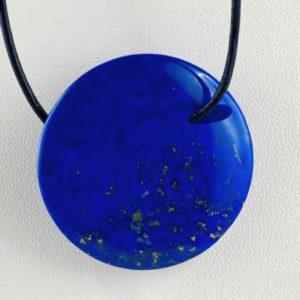 Lapis Lazuli, Linse, Steinlinse, Afghanistan, Steinanhänger