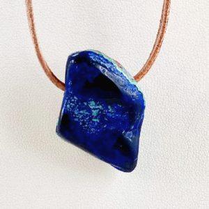 Malachit Azurit, gebohrter Stein, Steinanhänger