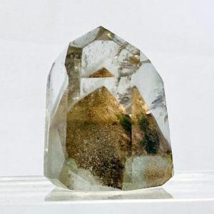 Phantomquarz, Bergkristall, deutliche Wachstumserscheinung