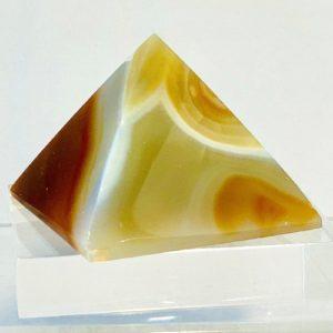 Pyramide Achat, Naturfarbe