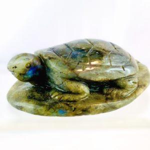 Schildkröte, Tier aus Stein, Edelstein, Labradorit, Edelsteintier