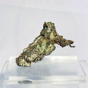Silber mit Akanthit, Gaoliangchun Mine, Shanxi, China