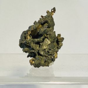 Silber mit Argentit, Gaoliangchun Mine, Datong, Shanxi, China