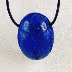 Skarabäus, Lapis Lazuli, Afghanistan, Glücksbringer Anhänger, Glücksanhänger, gebohrter Stein