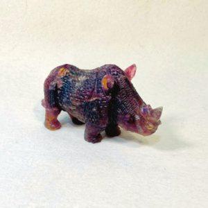 Tierfigur, Nashorn, Fluorit