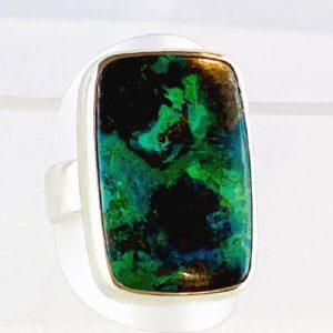 Chrysokoll Ring Silber super Farbe