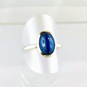 Kyanit, Cyanit Ring Silber
