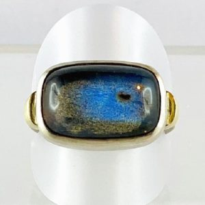 Labradorith, Ring Silber