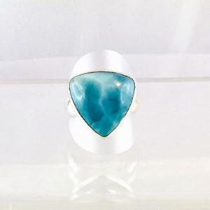Larimar Ring Silber, Karibik