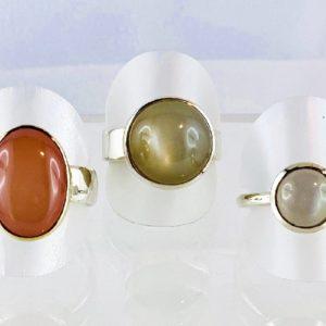 Mondstein Ringe, Indien, Silber