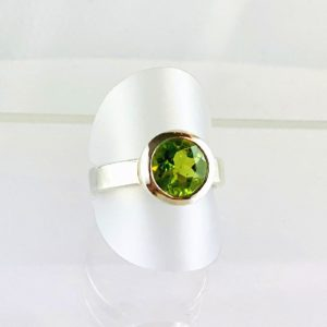 Peridot, Olivin, Chrysolith, Ring Silber