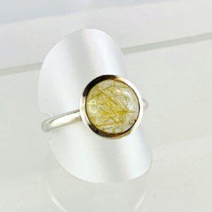 Rutilquarz Ring Silber