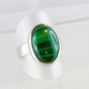 Schwarzopal, schwarzer Opal Äthiopien, Ring Silber