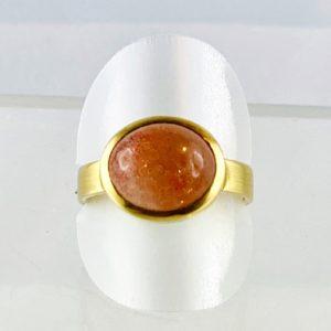 Sonnenstein, Naturstein, Gold Ring