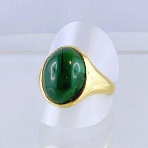 Turmalin Ring, Gold Handarbeit, wunderschöne Steinfarbe